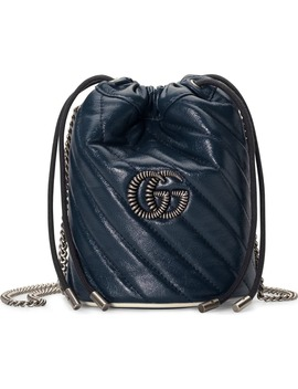 Mini Gg Marmont Quilted Leather Bucket Bag by Gucci