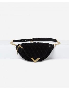 Stella Black Velvet Waist Bag By The Kooples by The Kooples