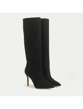 High Heel Tall Boots In Suede by J.Crew