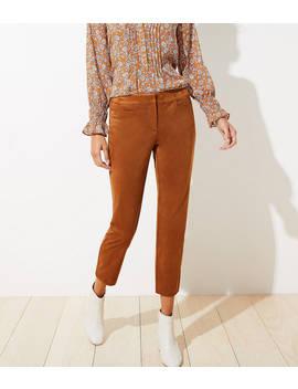 Faux Suede Slim Pants by Loft