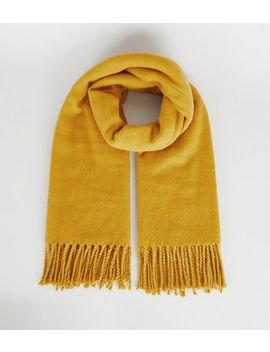 yellow-tassel-trim-scarf by new-look