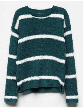 White Fawn Stripe Hunter Girls Chenille Sweater by White Fawn