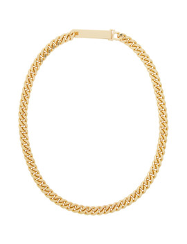 Gold Grand Identity Narrow Choker by Saskia Diez