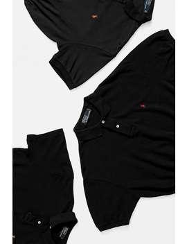 Urban Renewal Remade Branded Black Bungee Polo Shirt by Urban Renewal