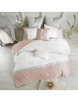Urban Habitat Jojo Blush Cotton Jacquard 7 Piece Comforter Set by Urban Habitat