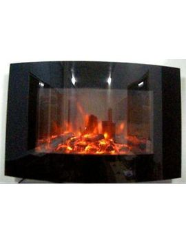 New 2019 Led Colour Flame Effect Truflame Log Curved Wall Mounted Electric Fire by Ebay Seller