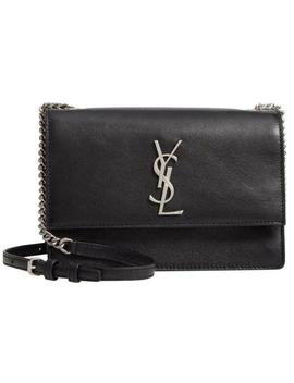 Monogram Shoulder Sunset Small Black Leather Cross Body Bag by Saint Laurent