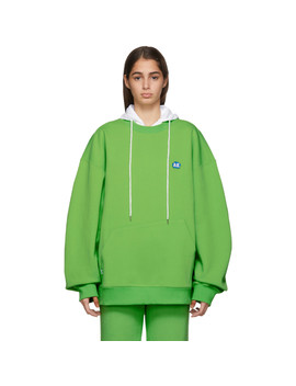 Green Stone Logo Sweatshirt by Ader Error