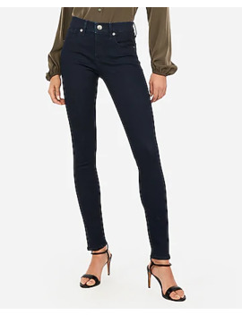 Mid Rise Denim Perfect Dark Wash Ankle Legging by Express