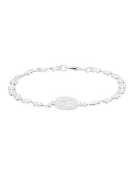 Silver Interlocking G Bracelet by Gucci