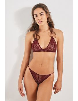 Out From Under Ginny Lace Tie Shoulder Bralette by Out From Under