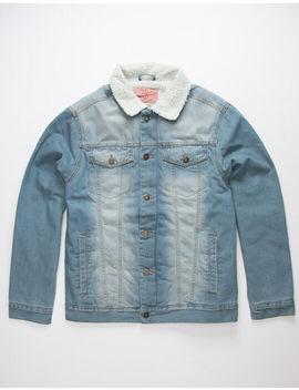 Brooklyn Cloth Sherpa Mens Denim Trucker Jacket by Brooklyn Cloth
