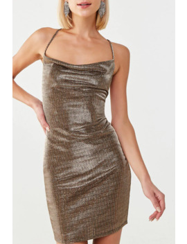 Striped Metallic Mini Dress by Forever 21