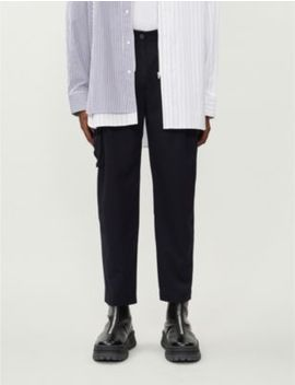 Tapered Oversized Woven Trousers by Ader Error