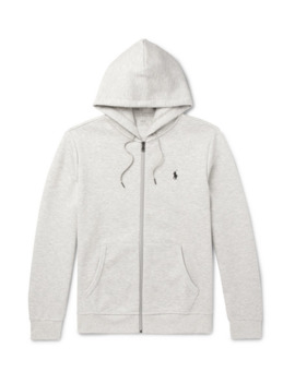 Mélange Jersey Zip Up Hoodie by Polo Ralph Lauren