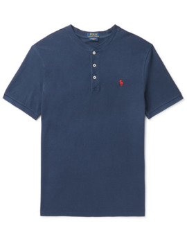 Slim Fit Cotton Piqué Henley T Shirt by Polo Ralph Lauren