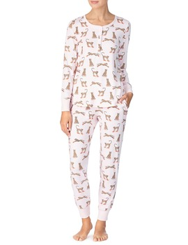 Print Brushed Jersey Pajamas by Kate Spade New York
