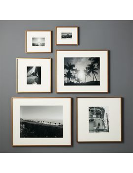 Gallery Brass Frames With White Mats by Crate&Barrel