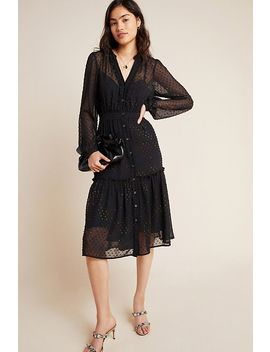 Audrey Clip Dot Shirtdress by Anthropologie