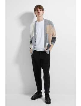 Colour Block Cardigan View All Knitwear Man by Zara