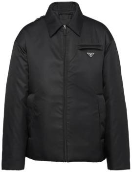 Padded Logo Patch Jacket by Prada