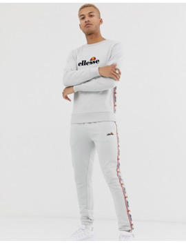 Ellesse Mexicali Sweat With Taping In Light Grey by Ellesse