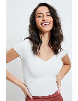 Ps Basics By Pacsun Melanie Cinched T Shirt by Pacsun