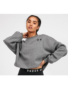 Womens Rival Fleece Boxy Sweatshirt | Grey by Under Armour