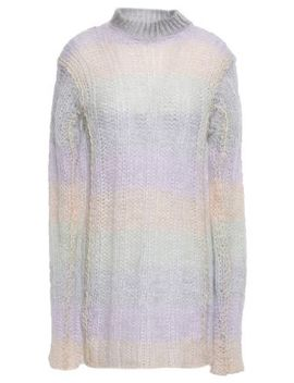 Open Knit Mohair Blend Turtleneck Sweater by Acne Studios