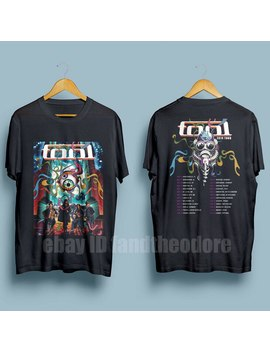 Tool Band 2019 Tour With Dates Men's Black T Shirt Size S   3 Xl by Ali Express.Com
