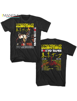 Scorpions Tokyo Tapes Album Cover Art Men's T Shirt Japanese Live Rock Band Tour Men Summer Short Sleeves T Shirt by Ali Express.Com