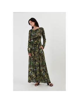 Robe Longue En Soie Marthe Jardin Defendu by Fete Imperiale