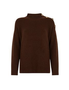 Chocolate Button Shoulder Jumper by Dorothy Perkins