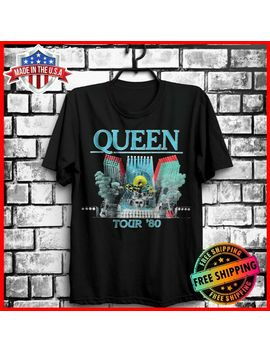 Freeship Queen Freddie Mercury 1980 Rock Band Concert Tour Black T Shirt S 6 Xl by Ali Express.Com