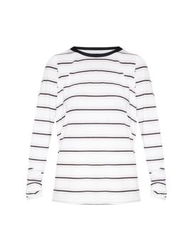 White Stripe Long Sleeve T Shirt by Prettylittlething