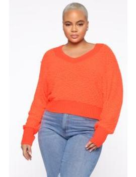 All In The Same Sweater   Neon Coral by Fashion Nova