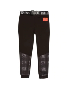 Boys Ri Active Black 'stn' Belted Jogger by River Island