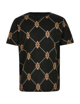 Boys Black Diamond Ri T Shirt by River Island