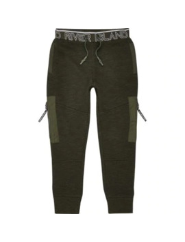 Boys Ri Active Black Stn Belted Jogger by River Island
