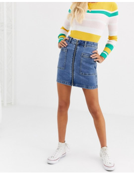 Jdy Denim Zip Detail Mini Skirt by Jdy's