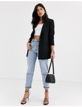 Vero Moda Longline Blazer In Black by Vero Moda