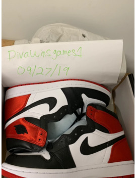 Women's Jordan 1 Satin Black Toe by Jordan Brand  ×