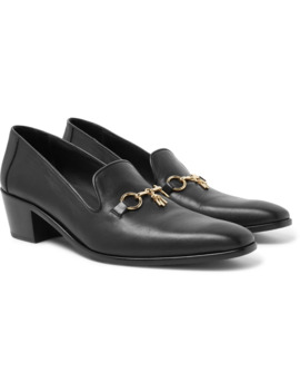 Embellished Leather Loafers by Needles