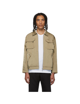 Beige Technical Bomber Jacket by Affix