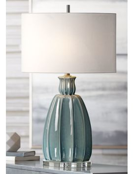 Uttermost Suzanette Sky Blue Crackle Ceramic Table Lamp by Lamps Plus