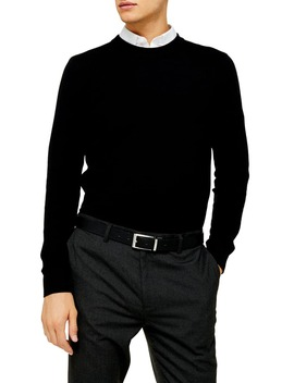Essential Classic Fit Crewneck Sweater by Topman