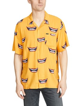 Lips Print Short Sleeve Shirt by Obey