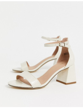New Look Low Block Heel In Off White by New Look