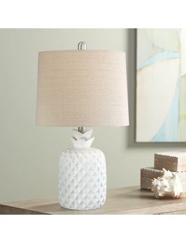 "Mikala 21"" High White Pineapple Accent Table Lamp by Lamps Plus"