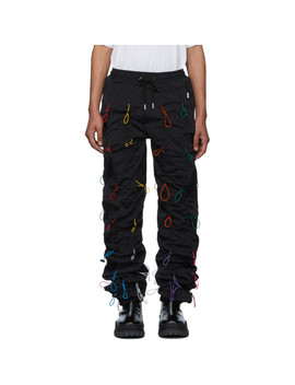 Black & Multicolor Gobchang Lounge Pants by 99% Is